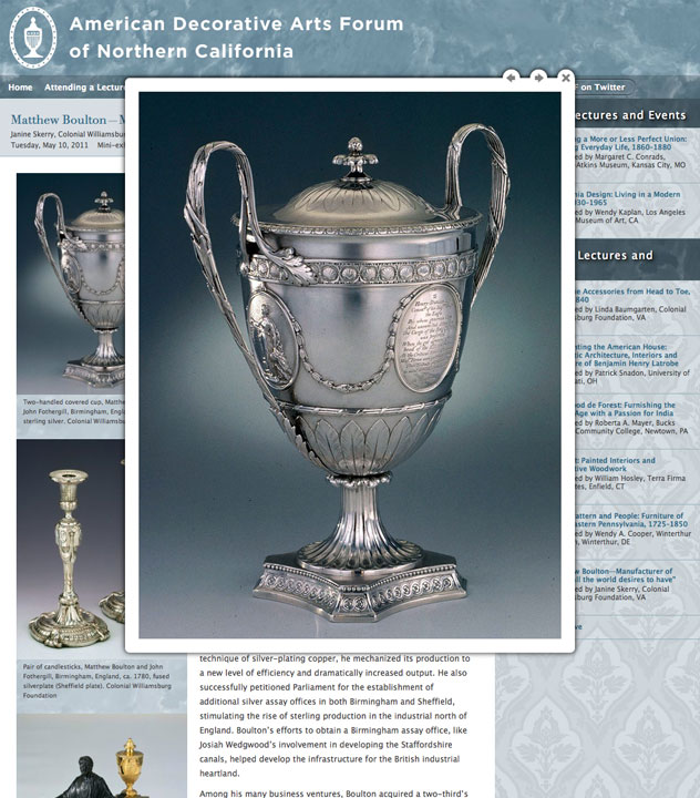 American Decorative Arts Forum image viewer by Kyle McGuire