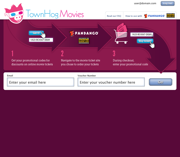 TownHog Movies Login Page by Kyle McGuire